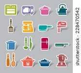 kitchen utensils and appliances ... | Shutterstock .eps vector #228470542