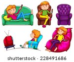 a simple drawing of the lazy...   Shutterstock .eps vector #228491686