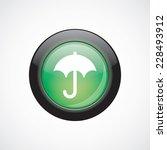 umbrella glass sign icon green...