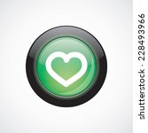 heart glass sign icon green...