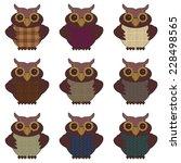 nice owls on white background | Shutterstock .eps vector #228498565