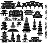 contour collection of buildings ...   Shutterstock .eps vector #228509605