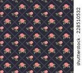 seamless vintage flower pattern ... | Shutterstock .eps vector #228510532