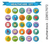 vector health care doddle icons ... | Shutterstock .eps vector #228517072