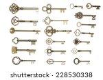 Antique Golden Door Keys...