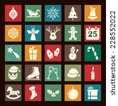 christmas flat icons a... | Shutterstock .eps vector #228552022