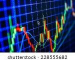 stock trade live. online forex...   Shutterstock . vector #228555682