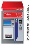 ticket machine with slots for... | Shutterstock .eps vector #228565072