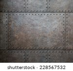 Metal Texture With Rivets As...