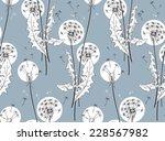 pattern dandelion   Shutterstock .eps vector #228567982