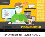 professional concept with male... | Shutterstock .eps vector #228576472