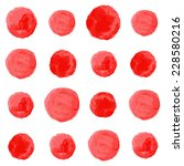 watercolor circles seamless...   Shutterstock . vector #228580216