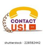 call center design over white... | Shutterstock .eps vector #228582442