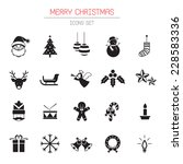 b w icons set   christmas... | Shutterstock .eps vector #228583336