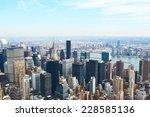 cityscape view of manhattan ... | Shutterstock . vector #228585136