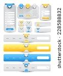 web user interface element set. ...