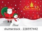 santa  snowman  background   Shutterstock .eps vector #228597442