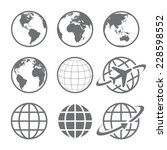 Earth Vector Globe Icon Set....