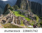 Overview Of Machu Picchu Ruins...