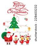 santa  dog   reindeer ... | Shutterstock .eps vector #228603232