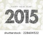 happy new year 2015 | Shutterstock .eps vector #228604522