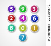 numbers set  colorful web icon... | Shutterstock .eps vector #228604642