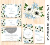 wedding invitation cards with... | Shutterstock .eps vector #228607675