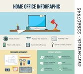 freelance infographic. business ...   Shutterstock .eps vector #228607945