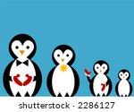 penguin famiy illustration | Shutterstock .eps vector #2286127
