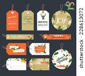 set of christmas and new year... | Shutterstock .eps vector #228613072