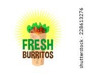 fresh burrito logo. snack bar... | Shutterstock .eps vector #228613276