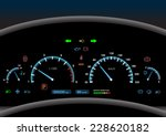 car dashboard modern automobile ... | Shutterstock .eps vector #228620182