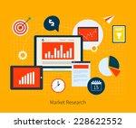 flat design vector illustration ... | Shutterstock .eps vector #228622552