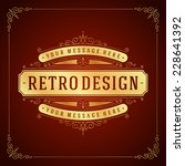 vintage label template. retro... | Shutterstock .eps vector #228641392
