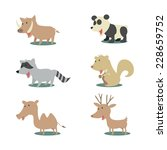 wild animals  isolated vector... | Shutterstock .eps vector #228659752