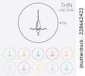 fishing sign icon. float bobber ... | Shutterstock . vector #228662422