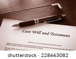 last will and testament document | Shutterstock . vector #228663082