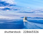 the cruise white liner sailing... | Shutterstock . vector #228665326