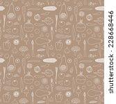 vegetables hand drawn vector art | Shutterstock .eps vector #228668446