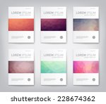 set of abstract modern cover ... | Shutterstock .eps vector #228674362