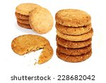 image of whole wheat biscuits... | Shutterstock . vector #228682042
