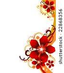 flower background design | Shutterstock .eps vector #22868356