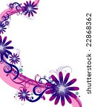 flower background design | Shutterstock .eps vector #22868362