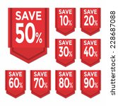 save percent sticker price tag | Shutterstock .eps vector #228687088