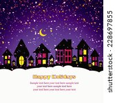 christmas card  | Shutterstock . vector #228697855