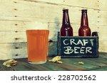 craft beer in bar | Shutterstock . vector #228702562