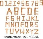 illustration of wood alphabet a ...   Shutterstock . vector #228713356