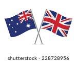 british and australian flags....   Shutterstock .eps vector #228728956