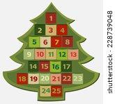 advent calendar   Shutterstock .eps vector #228739048