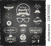 illustration on a blackboard.... | Shutterstock .eps vector #228755332